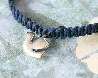 Peace Dove Friendship Bracelet Link On Cotton or Hemp Cord