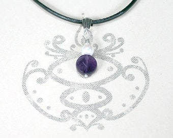 Crown Chakra Amethyst Necklace Basic Yoga Jewelry Energy Power Gemstone