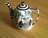 No Color Necessary - A Handpainted Teapot