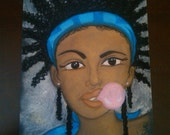 urban naturalista - an original soft pastel drawing