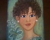 natural chic- an original soft pastel drawing