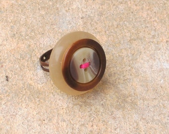 Neopolitan Button Ring
