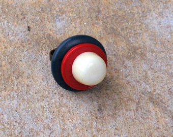 Miss Patriotic Button Ring