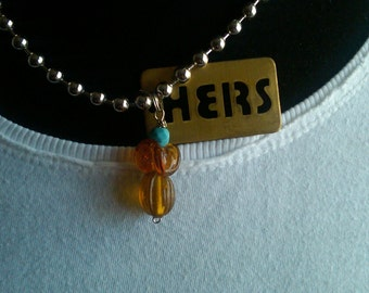 HERS not HIS - A Ball Chain Necklace and Charms