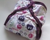 Violet Ooga Booga One Size Pocket Diaper with Organic Bamboo Velour Inner