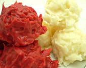 Valentine's Day Red & White Chocolate Coconut Cluster Haystacks - 2 Individual 3 oz bags