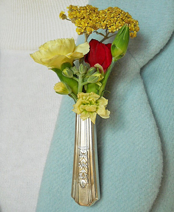 Lapel Vase - Tussie Mussie - 74 year-old ROSALIE knife given new life