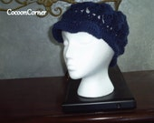 columbus day sale crochet newsgirl shell hat in navy