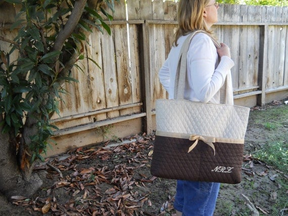 Diaper Bag / Extra Large Tote Bag / CUSTOM MADE in any color /