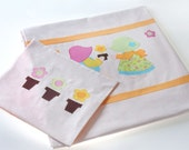 Applique bedding set for kids-Love- twin-duvet cover w/ pillow case