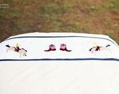 Applique bedding set for kids  Boys Room Gift Birthday Bedlinen -twin-duvet cover w/ pillow case - Cowboys