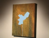 PHILADELPHIA ON A POLE (PAINTING NO. 1)... I also take custom orders for any city\/state\/country on a pole.