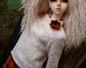 Black and Orange skirt and sweater set for SD