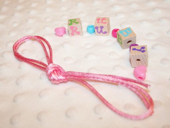PARTY Craft, CUSTOMIZED to your party, Personalized Block Necklaces