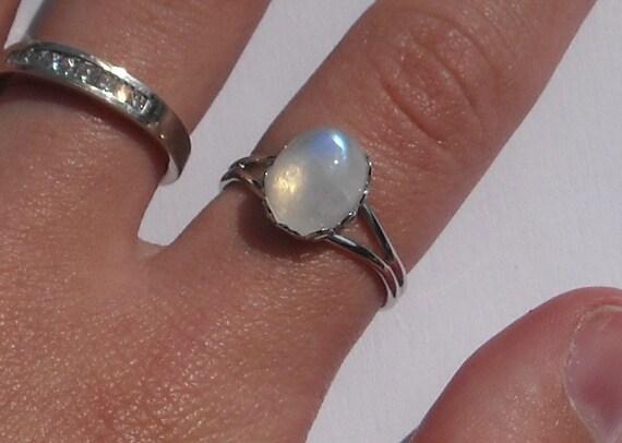 Bella's Rainbow Moonstone Ring