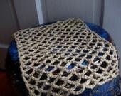 """Hermit Crab Wax Free Natural Hemp Hammock - Standard 20 to 55 gallon tank size -  12"""" x 9"""""""