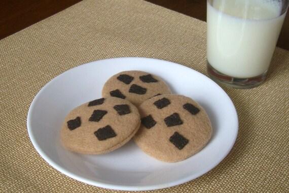 Chocolate Chunk Cookie Set - Felt Food Snack