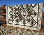 RESERVED Handmade Quilt Earthy Wall Quilt Lap Quilt
