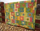 Happy Colors Handmade Quilt