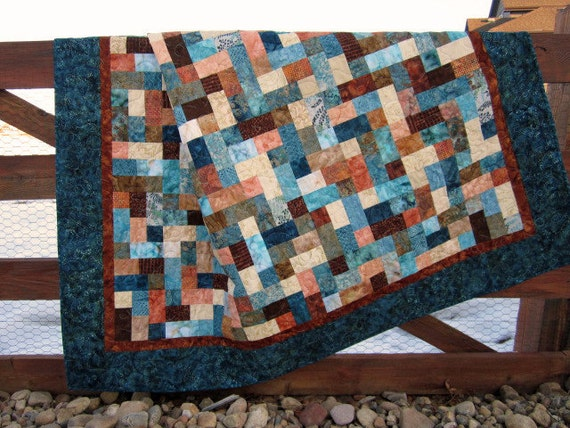 Handmade Batik Quilt Mosaic
