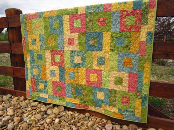 Happy Colors Handmade Quilt