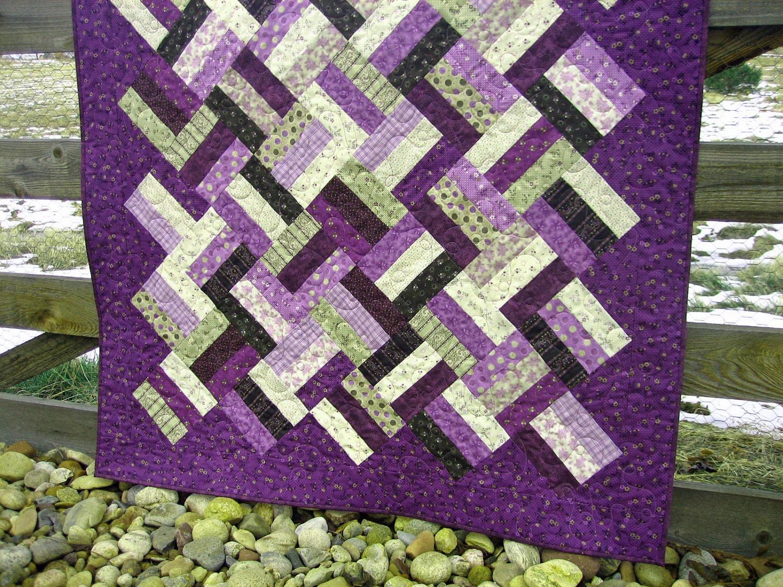 Handmade Lap Quilt Purple Persuasion