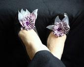 Striped Shoe Clip  2 PCS Handmade