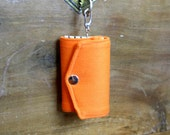 Free Shipping Handmade Orange Cotton Fabric Key Case For Men For Women Mothers Day Gift