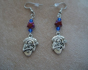 Guitar Skeleton Earrings, Day of the Dead, Guitar Man, 3 styles, Jewelry by Brendas Beading on Etsy