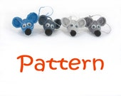 Sale - Cute Mouse - Step By Step Instructions/Pattern tutorial