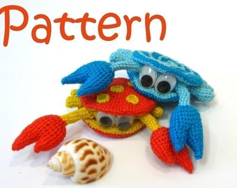 Rupert the Crab - pattern for crocheted amigurumi / tutorial