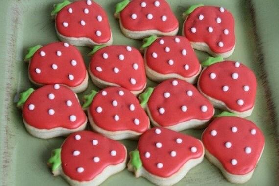 Berry Sweet Strawberry Cookies - 1 Dozen