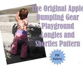 Apple Dumpling Gear Playground Longies...Shorties...Pants...PDF Sewing Pattern Ebook..DIY