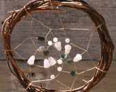 Pink and green dream catcher
