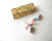 Reserved for Rachel Vintage Baby Rattle and Box
