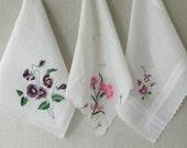Vintage Floral Handkerchief  Your Choice