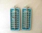 Vintage Aqua Aluminum Ice Cube Trays