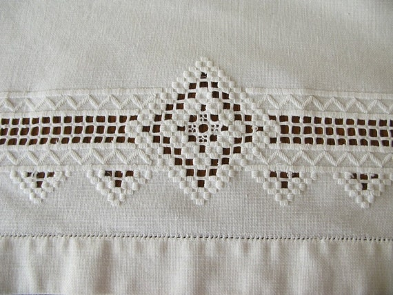 Tablecloth White Embroidery Drawn Thread