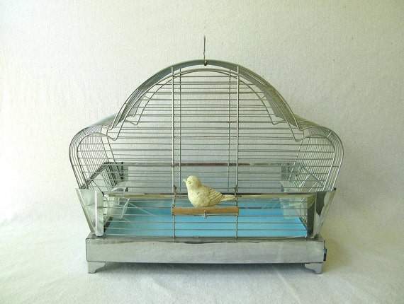 Vintage Birdcage and Stand