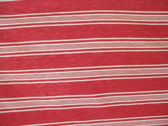 Vintage Red Ticking Stripe