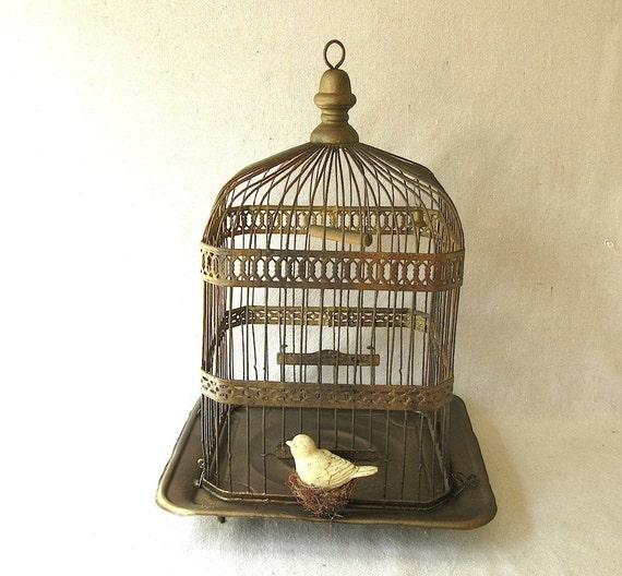 Vintage  Wire Birdcage