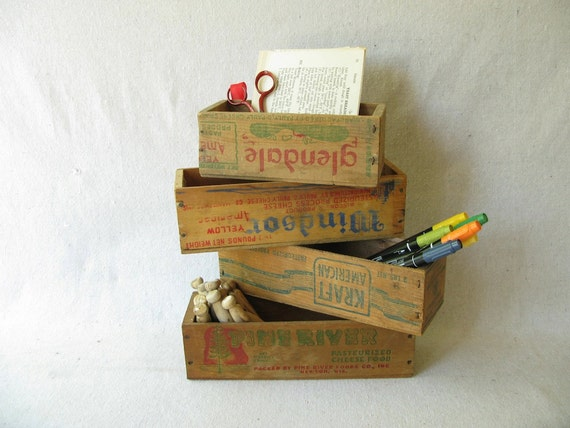Vintage Wood Cheese Box Four