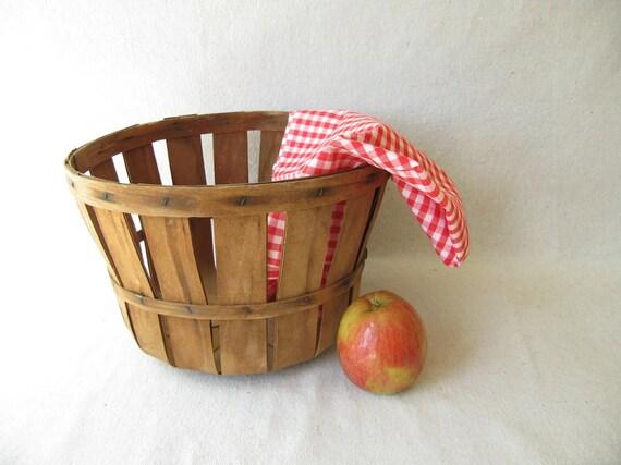 Vintage Woven Fruit Basket