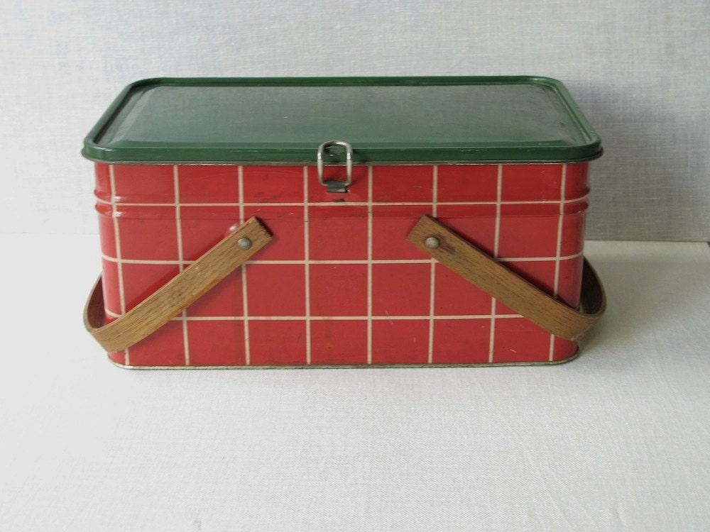 Vintage Metal Hamper Basket