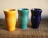 Three Vintage Italian Pottery Tumblers