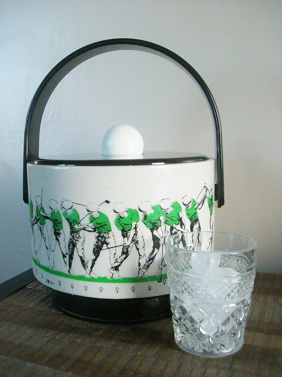 Vintage Cera Vinyl Ice Bucket- The Perfect Swing