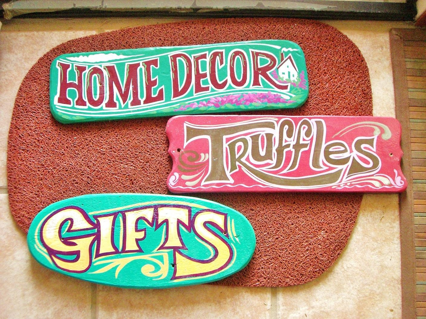 Vintage Hand painted Wood Signs