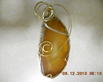 Agate Pendant,   Wire Wrapped Agate Pendant,  Geode Pendant,  Agate Slice Pendant,  Stone Pendant,  Stone Necklace,  Agate Slice,   Agates
