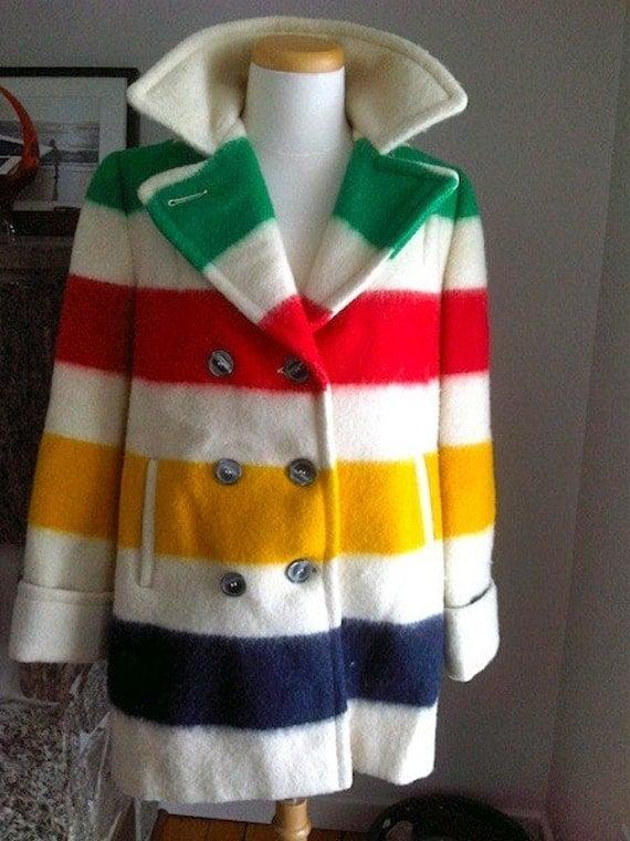 Stunning Hudson S Bay Vintage Blanket Pea Coat Reserved