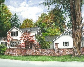 Watercolor painting- Commissioned House Portrait